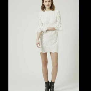 Topshop Lace Dress Bell Sleeves